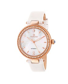 Empress Louise Automatic White Leather Watch 36mm
