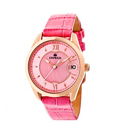 Messalina Automatic Pink Leather Watch 34mm