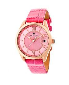 Empress Messalina Automatic Pink Leather Watch 34mm