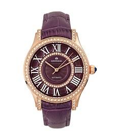 Empress Xenia Automatic Purple Leather Watch 35mm