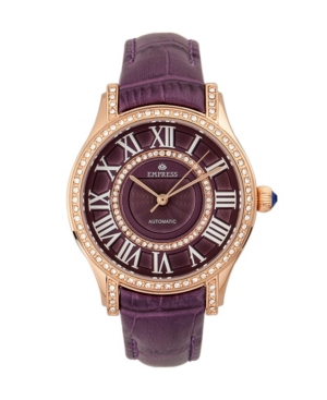 Xenia Automatic Purple Leather Watch 35mm