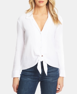 1.state T-shirts BUTTON-UP TIE-FRONT SHIRT