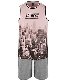 Ideology Big Boys No Rest Graphic Tank Top & Sweat Shorts Separates, Created for Macy's