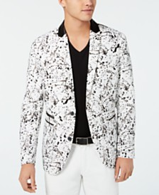 I.N.C. Men's Slim-Fit Paint Splash Blazer, Created for Macy's
