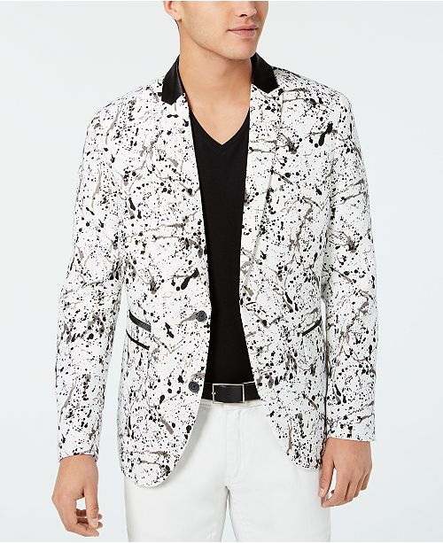 INC International Concepts I.N.C. Men's Slim-Fit Paint Splash Blazer, Created for Macy's