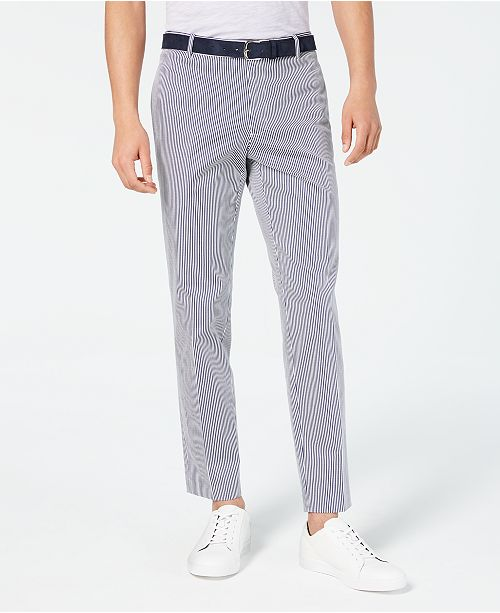 INC International Concepts I.N.C. Slim-Fit Striped Pants, Created for Macy's