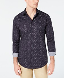 I.N.C. Men's Slim-Fit Confetti Print Shirt, Created for Macy's