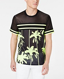INC Men's Pieced Stripe Mesh T-Shirt, Created for Macy's