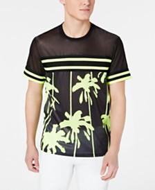 I.N.C. Men's Pieced Stripe Mesh T-Shirt, Created for Macy's