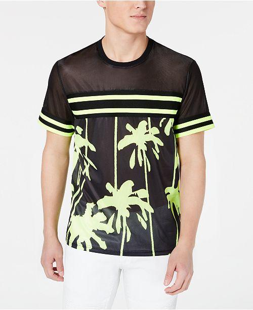 0d8864584e7eb INC International Concepts I.N.C. Men s Pieced Stripe Mesh T-Shirt ...