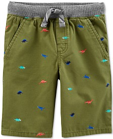 Carter's Toddler Boys Dinosaur-Print Cotton Shorts