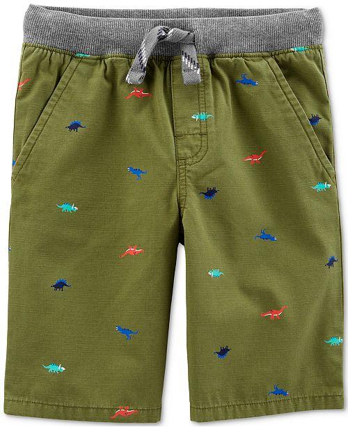 Carter's Toddler Boys Dinosaur-Print Cotton Shorts
