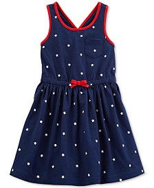 Carter's Little Girls Red, White & Star Print Cotton Sundress