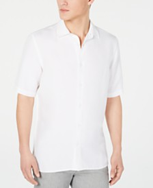 Alfani Men's Lagoon Linen Blend Shirt, Created for Macy's