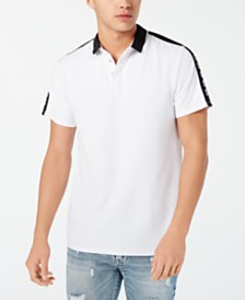 GUESS Men's Logo Graphic Polo