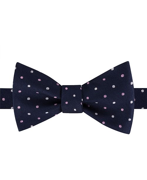 Tommy Hilfiger Men's Multi-Dot To-Tie Silk Bow Tie