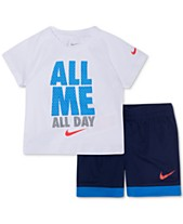 lowest price 861c9 84d1b Nike Baby Boys 2-Pc. All Me Graphic T-Shirt   Shorts Set