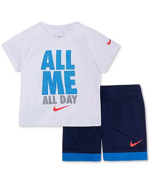 c94f8d2fa9ad Nike Baby Boys 2-Pc. All Me Graphic T-Shirt & Shorts Set & Reviews ...