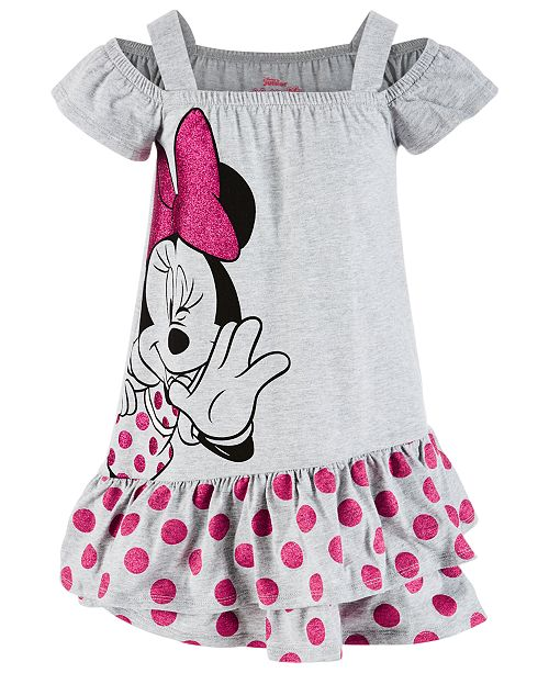 Disney Little Girls Minnie Mouse Dress, Created for Macy's