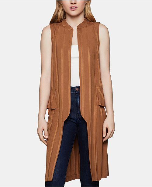 BCBGeneration Shadow-Stripe Lace-Up Vest