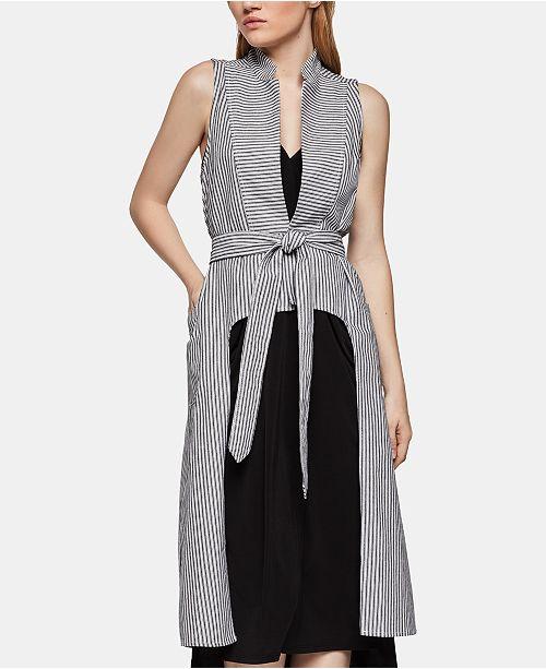 BCBGeneration Cotton Striped Vest