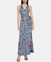 b822d791561 BCBGMAXAZRIA Floral-Print Wrap Maxi Dress