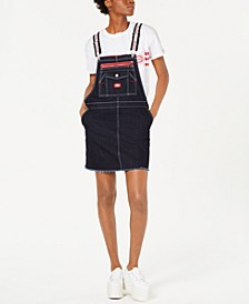 Logo-Strap Carpenter Overalls Dress