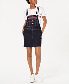 Dickies Logo-Strap Carpenter Overalls Dress