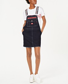 Dickies Logo-Strap Carpenter Overalls Dress