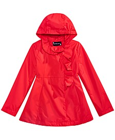 S Rothschild & CO Toddler Girls Hooded Ruffle Rain Coat