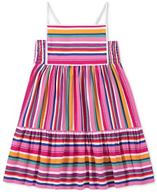 Calvin Klein Big Girls Rainbow Striped Sundress