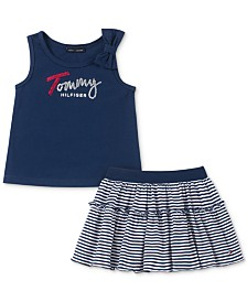 Tommy Hilfiger Toddler Girls 2-Pc. Tank Top & Scooter Skirt Set