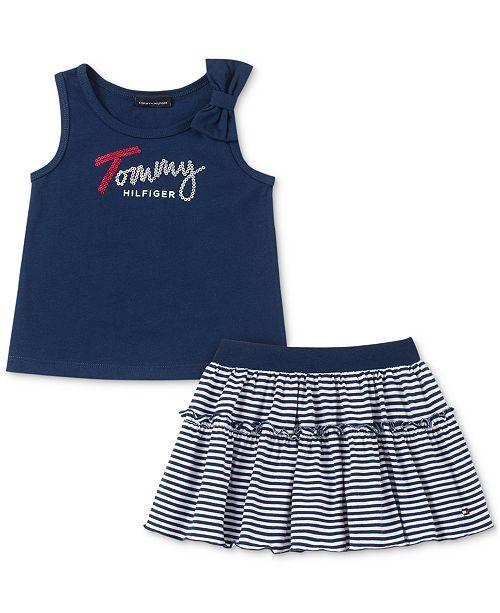 7acc466e4 Tommy Hilfiger Little Girls 2-Pc. Tank Top & Scooter Skirt Set ...