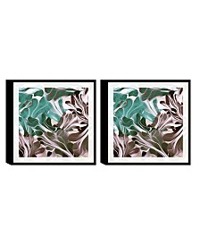 Chic Home Decor Cavali 2 Piece Framed Canvas Wall Art Abstract Design