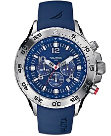 Nautica Men's N14555G NST Chrono Blue Resin Strap Watch