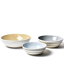 Coton Colors Neutral Nouveau Coupe Bowl - Set Of 3