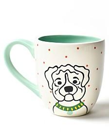Coton Colors Pet Wrinkly Dog Portrait Mug