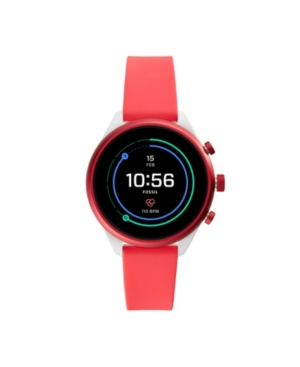 Fossil WOMEN'S SPORT HR RED SILICONE SMARTWATCH 41MM