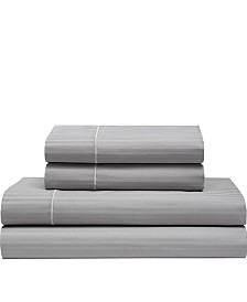 Silky Soft Long Staple Cotton Stripe King Sheet Set