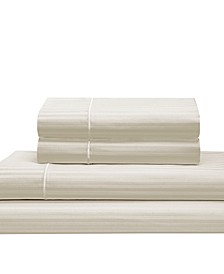Silky Soft Long Staple Cotton Stripe Queen Sheet Set