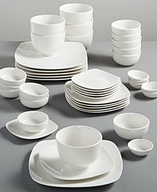 White Elements 42 pc Dinnerware Sets, Created for Macy's