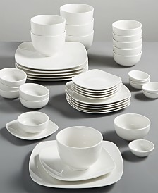 White Elements Hampton Square 42-Piece Set, Service for 6, Created for Macy's