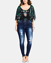 0dd9dc85d6 City Chic Trendy Plus Size Harley Ripped Jeans
