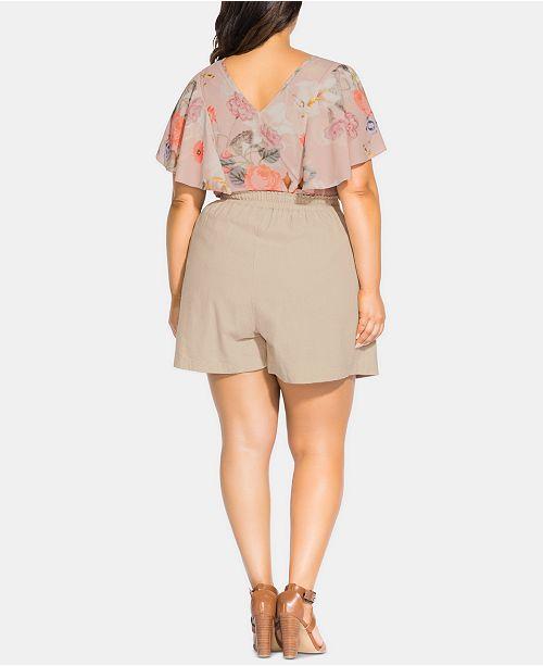 City Chic Mini Size D'avoine Plus Jupe culotteAvis Femme Trendy Flocons oeBdCxWQr