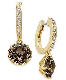 Kate Spade New York  Crystal Huggie Hoop Earrings