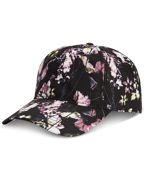 INC International Concepts I.N.C. Men's Floral-Print Twill Baseball Hat, Created for Macy's