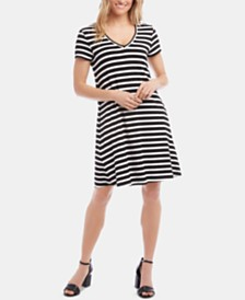Karen Kane Quinn Striped A-Line Dress
