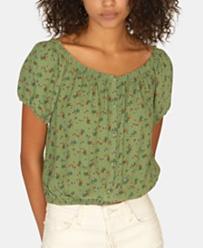 Sanctuary Printed Peasant Girl Summer Top