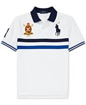 5e24ae0bb Polo Ralph Lauren Big Boys Striped Cotton Mesh Polo Shirt