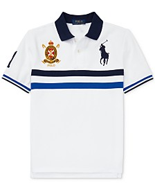 Polo Ralph Lauren Big Boys Striped Cotton Mesh Polo Shirt